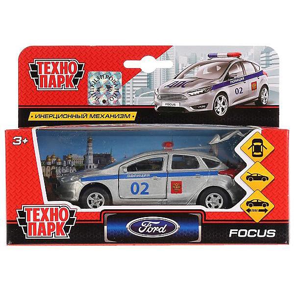 ТЕХНОПАРК Машина Технопарк Ford Focus полиция, 12 см, инерционная