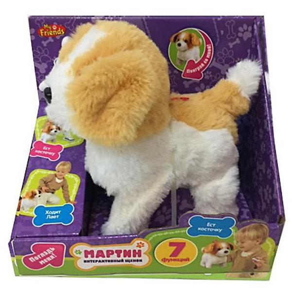 My Friends Интерактивный щенок My friends Мартин с косточкой my friends игрушка my friends интерактивный щенок арчи 16 см