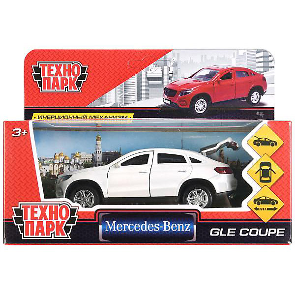 Купить Машина Технопарк Mercedes-benz Gle Coupe, 12 см, инерционная, ТЕХНОПАРК, Китай, белый, Мужской