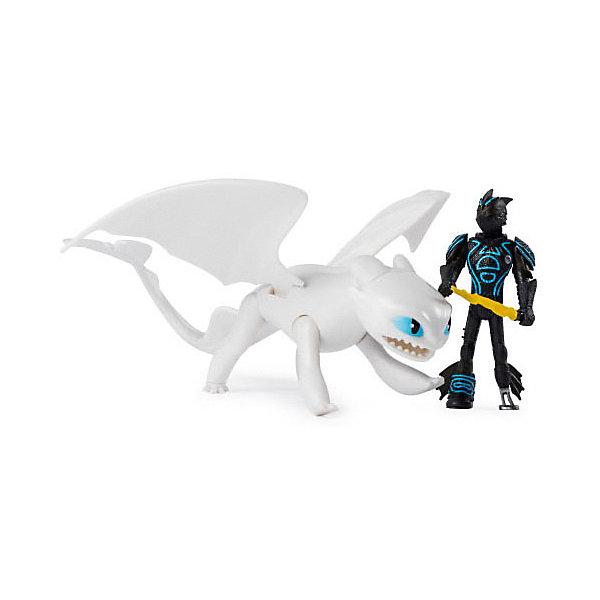 Купить Игровой набор Spin Master Dragons, дракон Белая фурия и фигурка викинга, Вьетнам, разноцветный, Унисекс