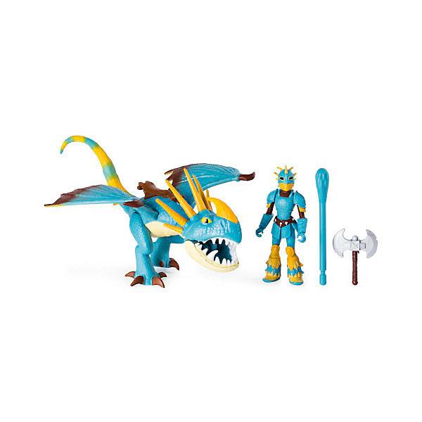 Купить Игровой набор Spin Master Dragons, дракон Змеевик и фигурка викинга, Вьетнам, разноцветный, Унисекс