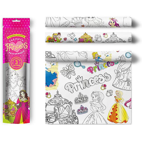 Мозаика-Синтез Скатерть Мозаика-синтез ButtenFilm Для юных принцесс, 110х360 см, 3 шт мозаика синтез скатерть веселые драконы