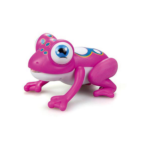 Лягушка Глупи Silverlit, розоваяИнтерактивные животные<br>Характеристики:<br><br>• материал: пластик<br>• упаковка: картонная коробка<br>• страна бренда: Китай<br><br>Большеглазый лягушонок Глупи со световыми и звуковыми эффектами разнообразит игры ребенка и поможет собрать рассыпанные скрепки и другие мелкие металлические предметы. Он управляется специальным датчиком, встроенным в голову игрушки. Достаточно легкого прикосновения, и Глупи выстрелит языком-магнитом.