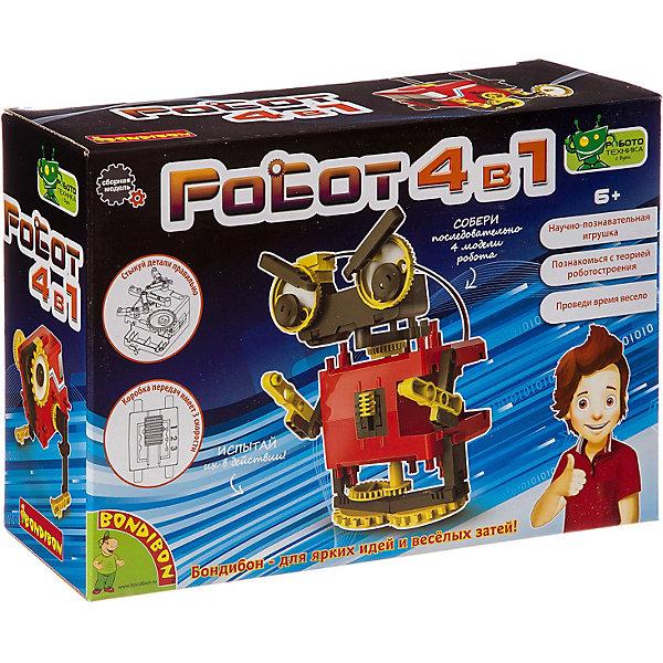 Купить Французские опыты Bondibon Науки с Буки: Роботы 4в1, Тайвань, Мужской
