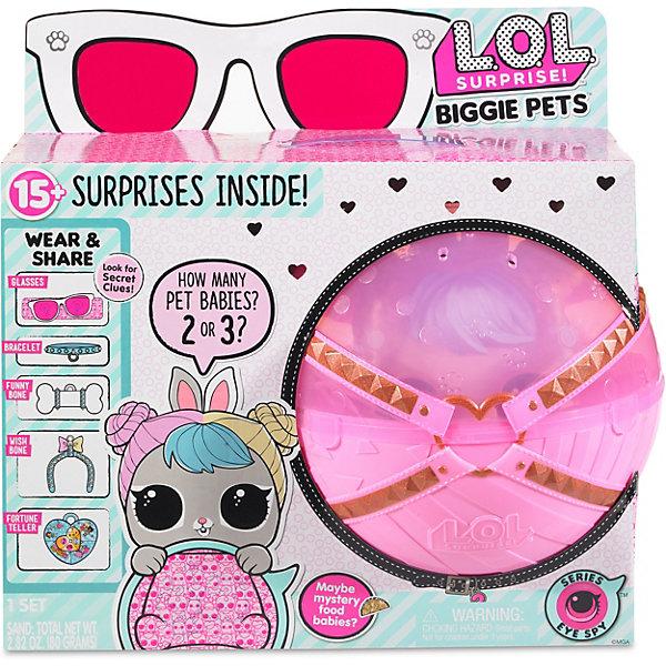 """Игровой набор LOL """"Большой питомец"""", зайчик в розовом шаре, Розовый"""