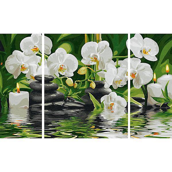 Schipper Картина-триптих по номерам Schipper Цветы Wellness-Oase, 50х80 см