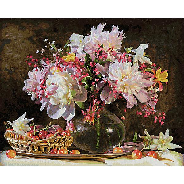 Schipper Картина по номерам Schipper Букет цветов с вишней 40х50 см картина магазин гобеленов букет подсолнухи 39 73 см гобелен