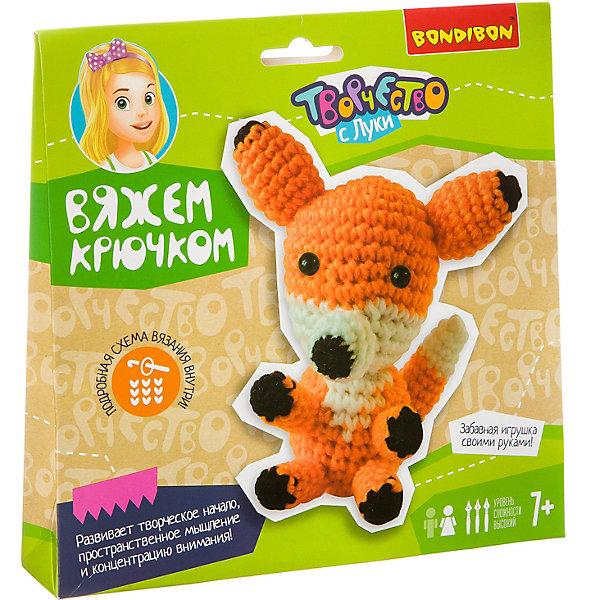 Фото - Bondibon Набор для вязания крючком Bondibon Лисичка набор для шитья bondibon шьем из плюша игрушка своими руками лисичка вв1557