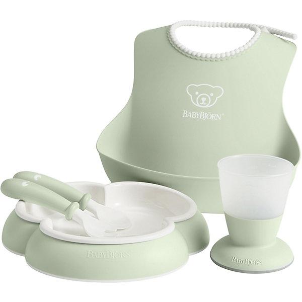 Купить Набор посуды для кормления BabyBjorn, нежно-зелёный, Швеция, зеленый, Унисекс