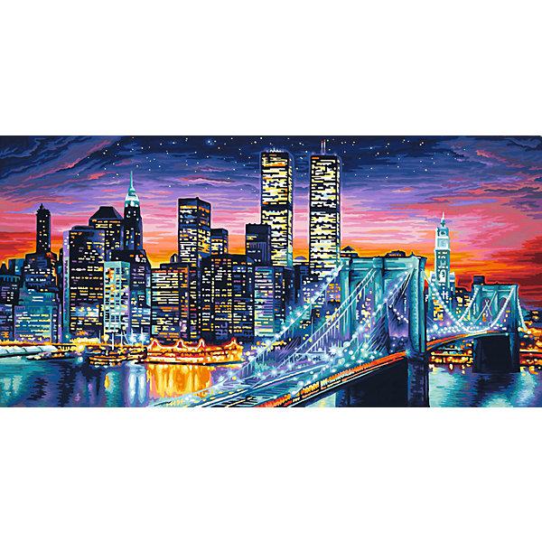 Schipper Картина по номерам Schipper Ночной Манхеттен, 40х80 см картина по номерам 80 x 100 см arth ah323