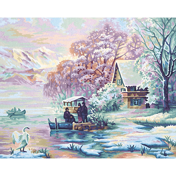 Schipper Картина по номерам Schipper Горное озеро зимой, 40х50 см картина по номерам 80 x 100 см arth ah323