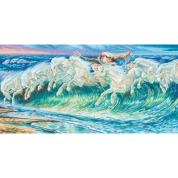 Schipper Картина по номерам Вольтер Крейн «Лошади Нептуна», 40х80 см