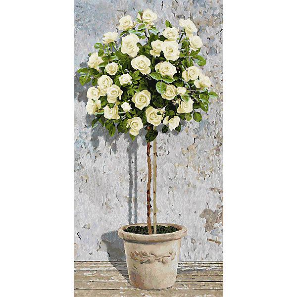 Schipper Картина по номерам Розовое дерево белое, 40х80 см