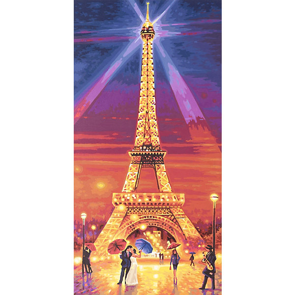 Schipper Картина по номерам Schipper Эйфелева башня ночью, 40х80 см картина по номерам 80 x 100 см arth ah323