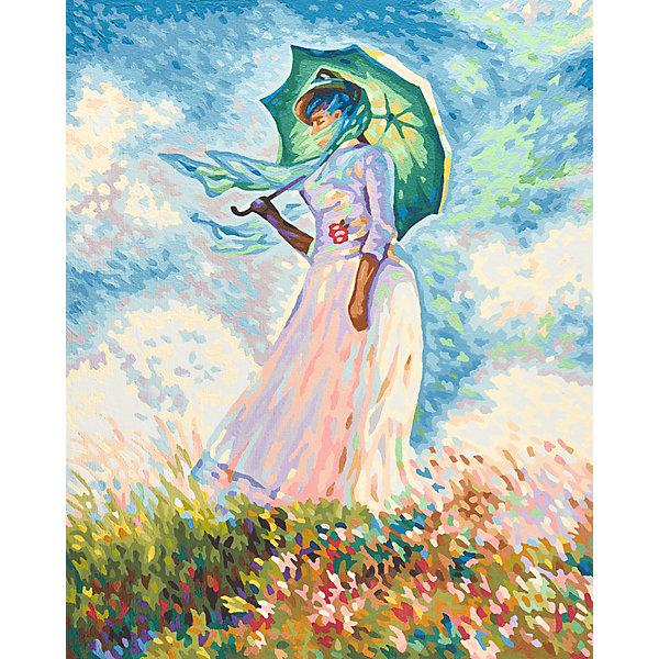 Купить Картина по номерам Schipper Клод Моне «Дама с зонтиком», 40х50 см, Германия, разноцветный, Унисекс