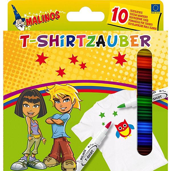 Malinos Набор фломастеров Malinos, рисование по текстилю