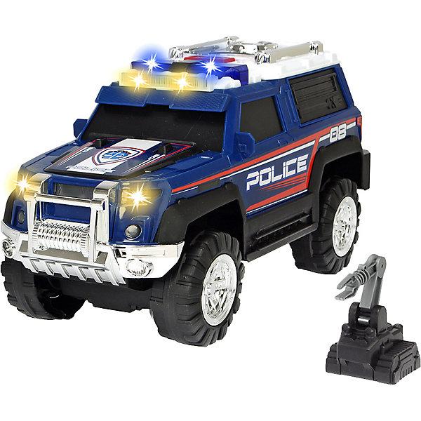 Полицейская машина Dickie Toys Action, свет, звук, 30 см, Синий/белый