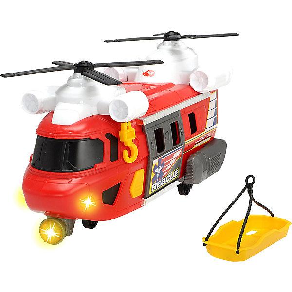 Спасательный вертолет Dickie Toys Action, свет, звук, 30 см, Красный