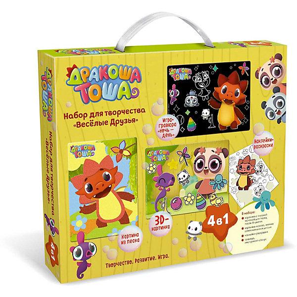 Купить Набор для творчества Origami Дракоша Тоша Веселые Друзья , 4 в 1, Китай, разноцветный, Унисекс
