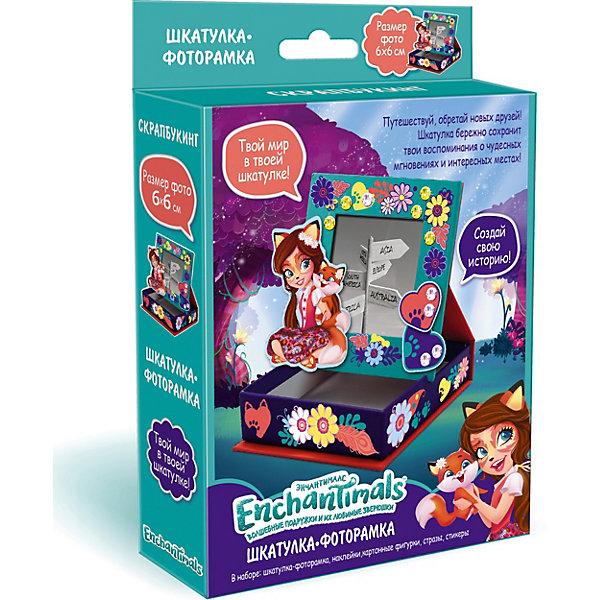 Купить Скрапбукинг Origami Enchantimals Шкатулка-фоторамка Создай свою историю , 10х10х3 см, Китай, разноцветный, Женский