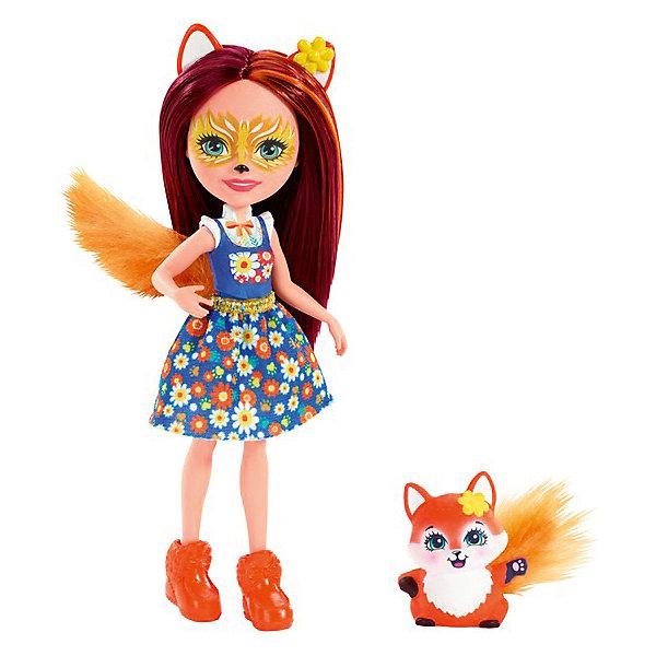 Купить Кукла с любимой зверюшкой Enchantimals, Фелисити Фокс и Флик, Mattel, Индонезия, Женский