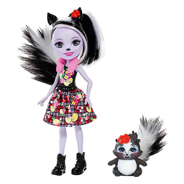 Купить Кукла с любимой зверюшкой Enchantimals, Сейдж Скунси и Кейпер, Mattel, Индонезия, Женский