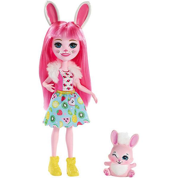 Купить Кукла с любимой зверюшкой Enchantimals, Бри Банни и Твист, Mattel, Индонезия, Женский