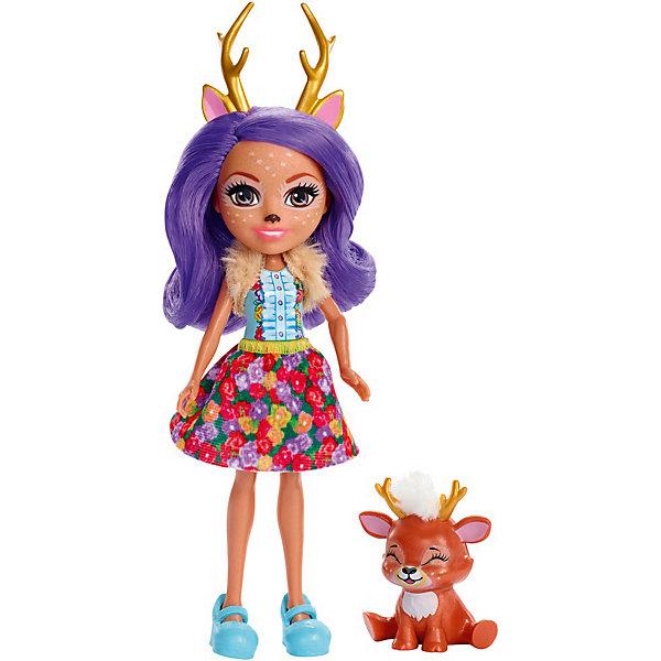 Купить Кукла с любимой зверюшкой Enchantimals, Данесса Дир и Спринт, Mattel, Индонезия, Женский