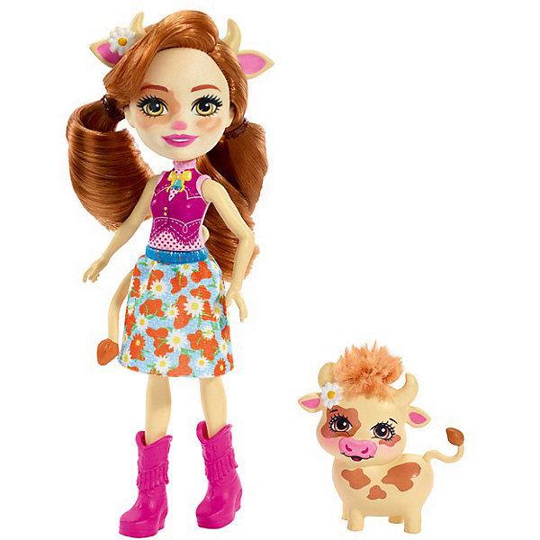 Купить Кукла с любимой зверюшкой Enchantimals, Кейли Кау и Кардл, Mattel, Индонезия, Женский