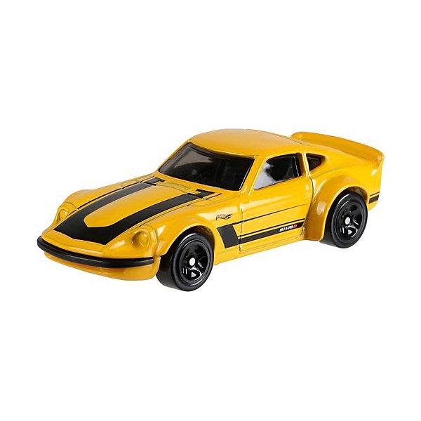 Базовая машинка Hot Wheels, Nissan Fairlady ZМашинки<br>Характеристики:<br><br>• возраст: от 3 лет;<br>• материал: металл, пластмасса;<br>• вес упаковки: 30 гр.;<br>• размер упаковки: 11х4х11 см;<br>• тип упаковки: блистерный;<br>• страна бренда: США.<br><br>Машинка Hot Wheels от Mattel входит в группу моделей базовой коллекции. Миниатюры этой серии изображают реальные автомобили, спорткары, фургоны, мотоциклы в масштабе 1:64, а также модели с собственным оригинальным дизайном. Собрав свою линейку машинок, ребенок сможет устраивать заезды, гонки и меняться экземплярами с друзьями.<br><br>Монолитные элементы игрушки увеличивают ее прочность. Падение и столкновение с твердыми предметами во время игр не отражается на внешнем виде и ходе машинки. Кузов отчетливо детализирован, покрыт стойкими насыщенными красками. Колеса легко крутятся вокруг своей оси.<br><br>Игрушка выполнена из качественных материалов, сертифицированных по стандартам безопасности для использования детьми.