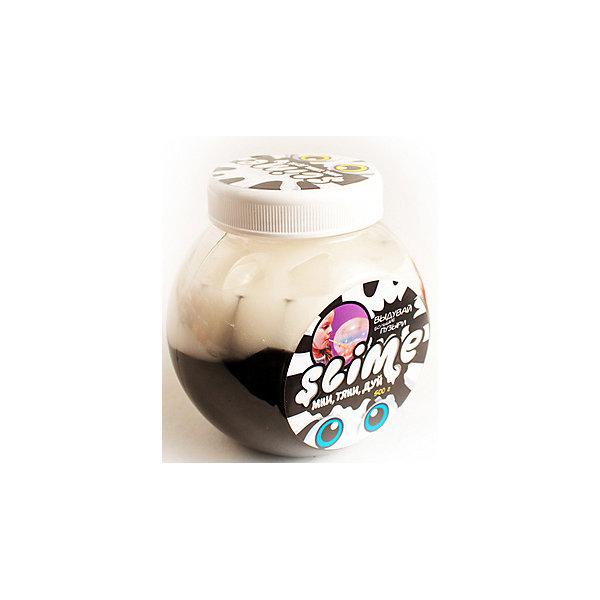 Slime Лизун Mega Mix, черный и белый, 500 г
