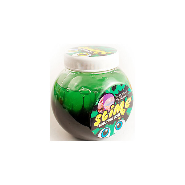 Slime Лизун Mega Mix, черный и зеленый, 500 г