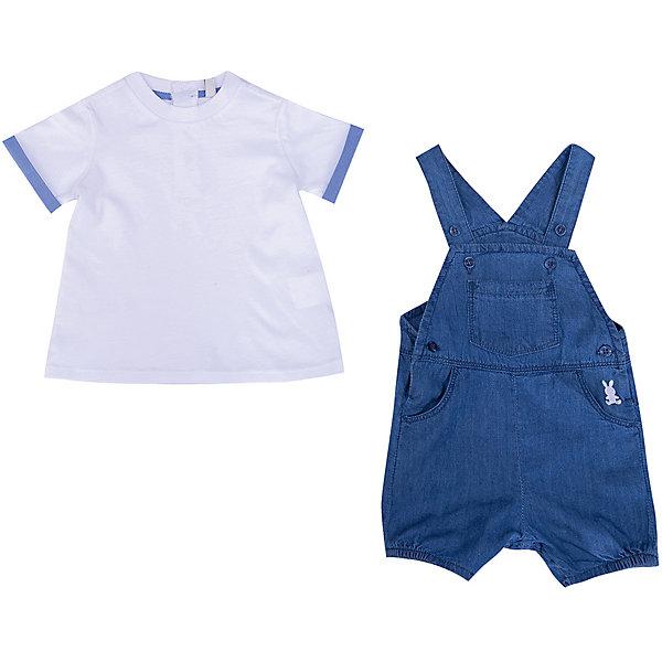 Купить Комплект Birba: футболка и полукомбинезон, Китай, синий, 68, 74, 80, Мужской