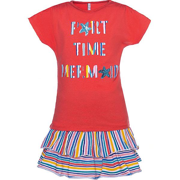 Купить Комплект: футболка с коротким рукавом и юбка Trybeyond для девочки, Бангладеш, разноцветный, 140, 98, 122, 134, 164, 176, 152, 116, 110, 104, 128, Женский