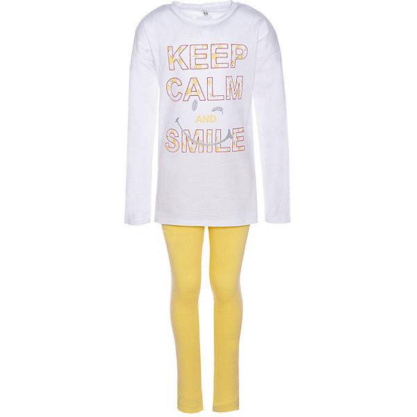 Купить Комплект: футболка с длинным рукавом и леггинсы Trybeyond для девочки, Бангладеш, желтый, 122, 164, 104, 128, 176, 98, 152, 134, 110, 140, 116, Женский