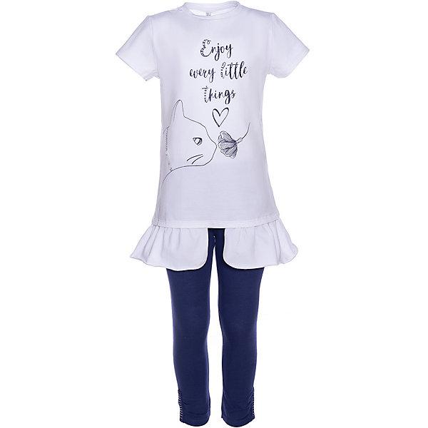 Купить Комплект: футболка с коротким рукавом и леггинсы Trybeyond для девочки, Китай, белый, 128, 116, 110, 122, 176, 152, 164, 140, 104, 134, Женский