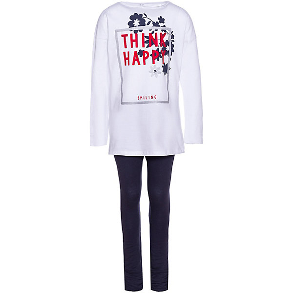 Купить Комплект: футболка с длинным рукавом и леггинсы Trybeyond для девочки, Бангладеш, белый, 104, 116, 152, 140, 128, 134, 122, 164, 110, 176, Женский