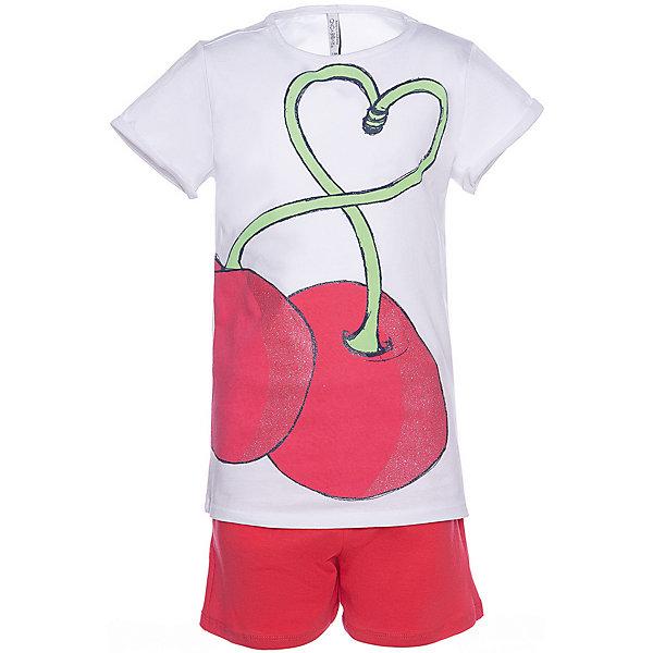 Купить Комплект: футболка с коротким рукавом и шорты Trybeyond для девочки, Бангладеш, белый, 110, 152, 98, 128, 140, 104, 134, 116, 122, 176, 164, Женский