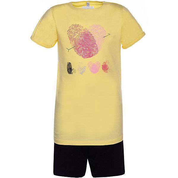 Купить Комплект: футболка с коротким рукавом и шорты Trybeyond для девочки, Бангладеш, желтый, 122, 104, 164, 110, 98, 140, 134, 176, 128, 152, 116, Женский