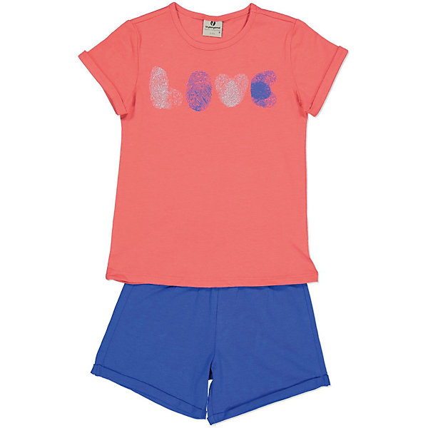 Купить Комплект: футболка с коротким рукавом и шорты Trybeyond для девочки, Бангладеш, розовый, 116, 98, 152, 128, 134, 110, 104, 164, 122, 140, 176, Женский