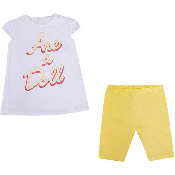 Купить Комплект Birba: футболка и леггинсы, Бангладеш, желтый/белый, 86, 92, 96, 80, Женский