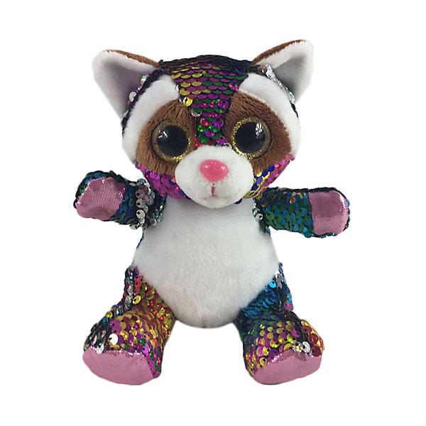 Купить Мягкая игрушка ABtoys Енот с пайетками, 15 см, Китай, разноцветный, Женский