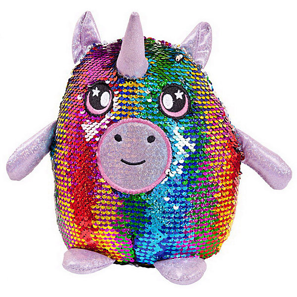Купить Мягкая игрушка ABtoys Единорог с пайетками, 20 см, Китай, разноцветный, Женский