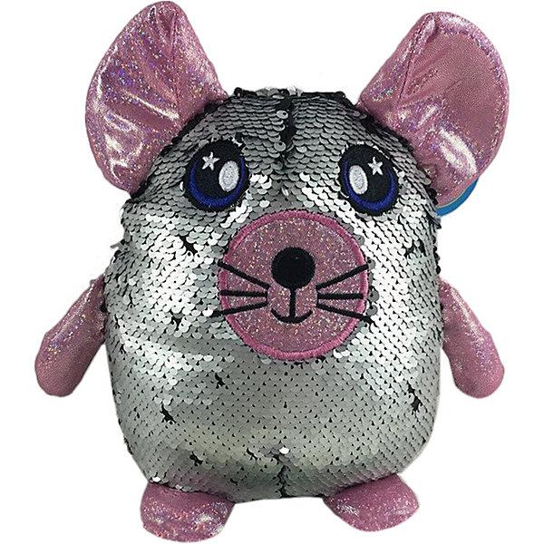 Купить Мягкая игрушка ABtoys Мышь с пайетками, 20 см, Китай, rosa/grau, Женский