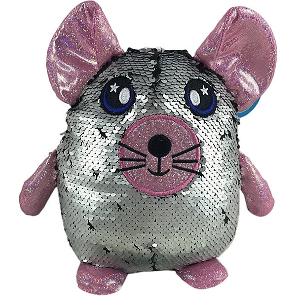 ABtoys Мягкая игрушка Мышь с пайетками, 20 см