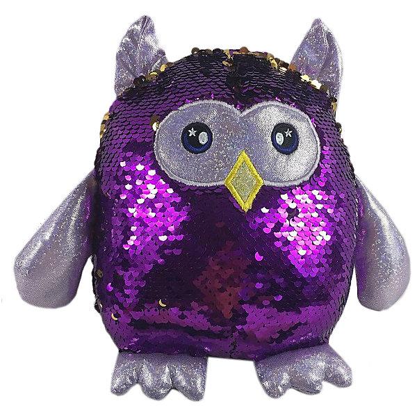 Купить Мягкая игрушка ABtoys Сова с пайетками, 20 см, Китай, фиолетовый, Женский