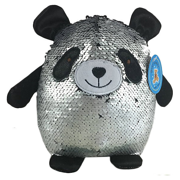 ABtoys Мягкая игрушка Панда с пайетками, 20 см