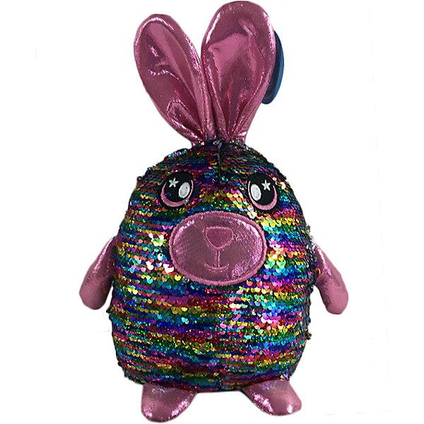 Купить Мягкая игрушка ABtoys Заяц с пайетками, 20 см, Китай, разноцветный, Женский