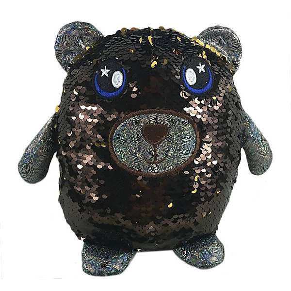 ABtoys Мягкая игрушка Медведь с пайетками, 20 см
