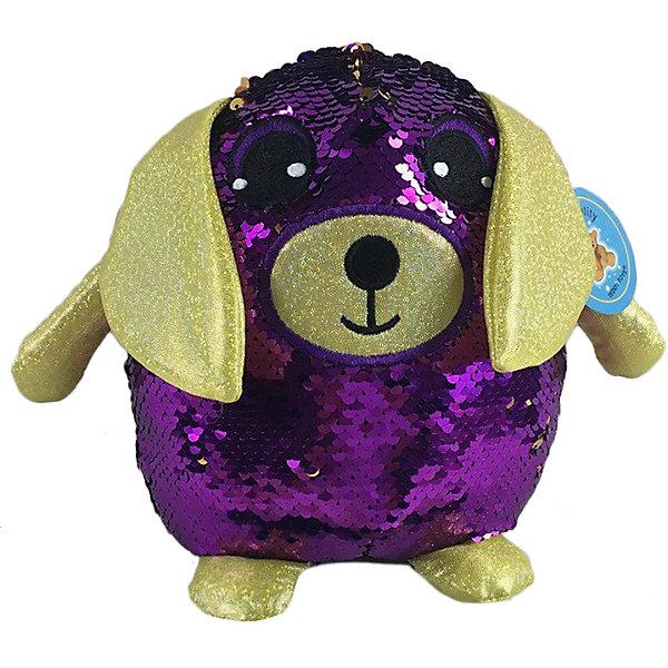 ABtoys Мягкая игрушка Собака с пайетками, 20 см
